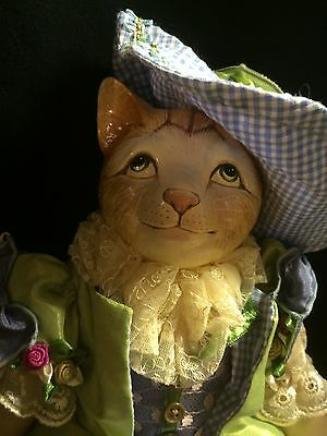 Katherine's Collection SPRING Colors Boy Feline CAT DOLL in Blue Gingham