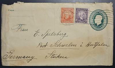 CANADA to GERMANY 1927 int upr Stat Cover/ENV KAMLOOPS to DEUTSCHLAND , England