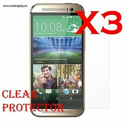 3x LCD Display Screen Lens Clear Guard Protector Cover Film For HTC One 2 M8