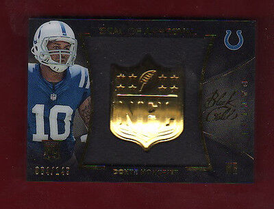 2014 PANINI BLACK GOLD DONTE MONCRIEF COLTS SEAL OF APPROVAL SHADOW BOX RC /149
