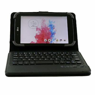 """Universal Wireless Bluetooth Keyboard PU Case Stand For AT&T LG G Pad 7.0 7"""""""