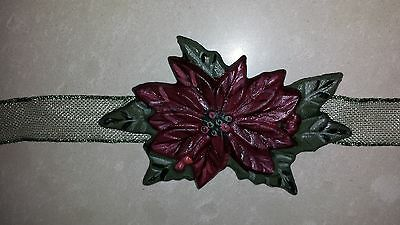 Longaberger 2003 Poinsettia Christmas Holiday Tie On - MINT FREE SHIPPING!
