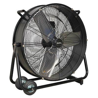 """Sealey Industrial High Velocity Two-Speed Garage Air Drum Fan - 24"""" 230V - HVD24"""