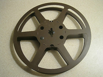 16mm 200ft  1940's Brown Heavy Duty Metal  Reel 5 Inches Across