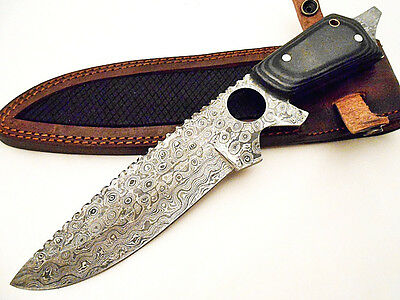One of a Kind Custom Hand Made Damascus Steel Hunting Bowie Knife SE 1517