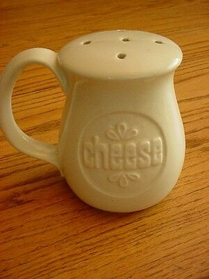 Vintage Mid Century Modern Parmesan Cheese Shaker Ceramic Gourmet Chef Italian