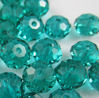 DIY Jewelry Faceted 100 pcs Malachite green #5040 3x4mm Roundelle Crystal Beads