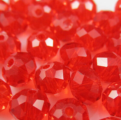 NEW Jewelry Faceted 100 pcs Red #5040 3x4mm Roundelle Crystal Beads DIY