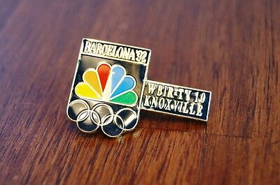 NBC WBIR TV-10 KNOXVILLE TN Barcelona Olympic Broadcast Sponsor Pin 1992