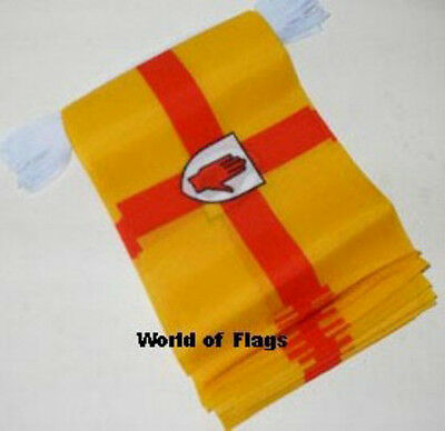 ULSTER FLAG BUNTING 9m 30 Irish Polyester Party Flags Northern Ireland Red Hand