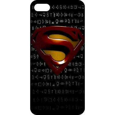 5O5C69 Retro Superman Pattern Black IMD Hard Back Case Cover For Apple iPhone 5C