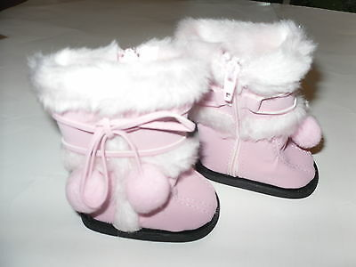 Doll Clothes American Fashion  Pink  Boots Shoes  for 18 inch Girl Doll