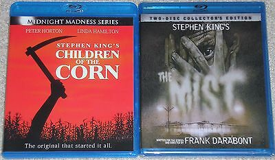 Horror Blu-ray Disc Lot - Stephen King CHILDREN OF THE CORN Used THE MIST (New)