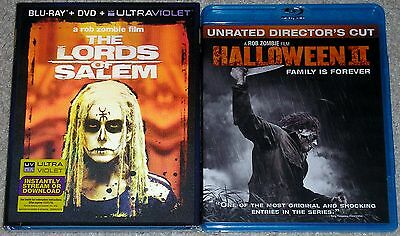 Horror Blu-ray Lot - Halloween II (Used) The Lords of Salem (New) Rob Zombie