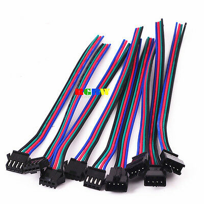 20Pairs 4 Pin JST Male Female Connector Cable Wire F WS2801 LPD8806 RGB Strip