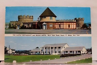 New York NY Olean Motel Castle Restaurant Postcard Old Vintage Card View Post PC
