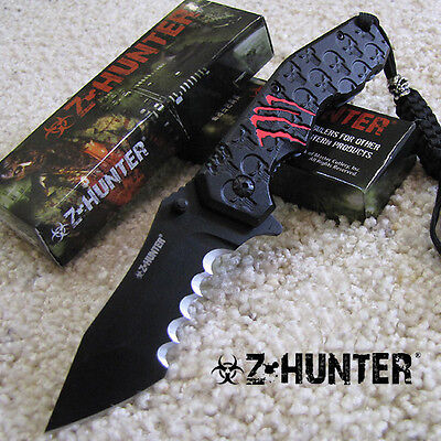Blood Claw DEEP CUT Punisher - Tactical SPRING Assisted Folding KNIFE - Z-Hunter