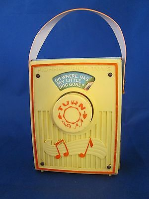 Fisher Price Music Box Radio Oh Where Oh Where Has My Little Dog Gone