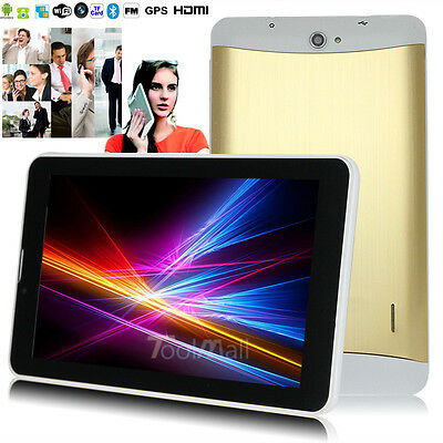 """7""""Google Android 4.4.2 Phablet Tablet PC MTK Capacitive Screen Camera MID Golden"""