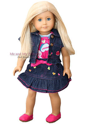 JACKET + TOP + SKIRT + SHOES Outfit - Clothes fits American Girl Doll Only