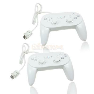 Lot 2 New Hot White Classic Pro Controller for Nintendo Wii Remote Best Buy