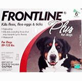 Frontline Plus For Dogs 89-132 lbs 12 month supply 1 Year