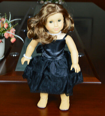 """Doll Clothes fits 18"""" American Girl Handmade Black Party Dress"""