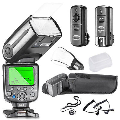 Neewer NW-565C Pro E-TTL Slave Flash Speedlite Kit for Canon Rebel T5i T4i T3i