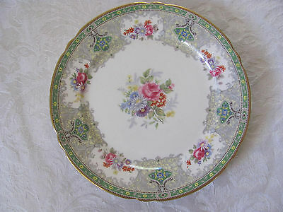 "Shelley ""Georgian"" Green #13360 w/ Gold Rim - Set of 4 - Salad Plates"