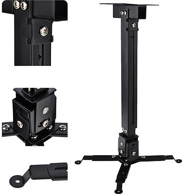 Universal Lcd Dlp Projector Mount Ceiling Wall Bracket Roof Stand Adjustable
