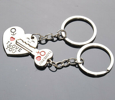 Special Design 1 Pair keychain Couple Keychain Keying Key Fob Lover Gift Heart