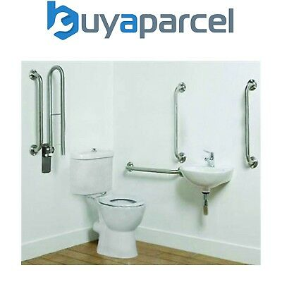 Document M Complete Fully Disabled Doc M Toilet Basin Stainless Steel Rail Pack