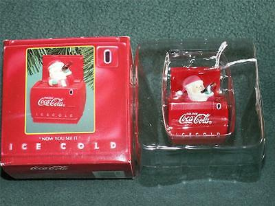 """NIB COKE BRAND CHRISTMAS/HOLIDAY ORNAMENT """"NOW YOU SEE IT, NOW YOU DON'T"""""""