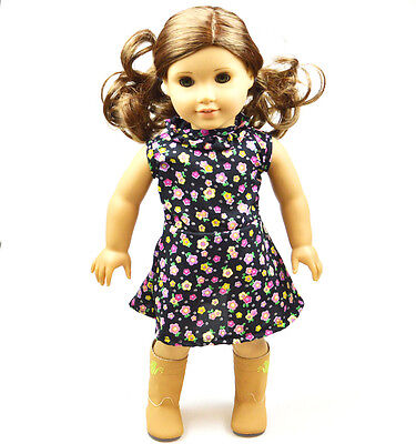 """Doll Clothes fits 18"""" American Girl Handmade Handmade Floral pattern   Dress"""