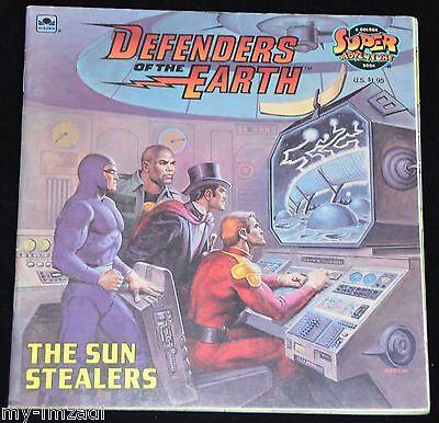 Vintage 1986 Softcover DEFENDERS OF THE EARTH THE SUN STEALERS Golden Book