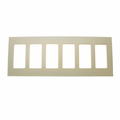 Lightolier Controls Comfp6La Compli Faceplate, 6-Gang, Wall Plate, Light Almond