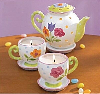 AVON TEA TIME FLORAL BRIGHTS SPRINGTIME CANDLE COLLECTION