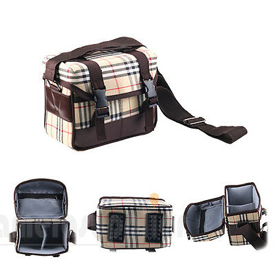 Grid Style SLR DSLR Lens Digital Camera Case Bag for Nikon Canon Sony Panasonic