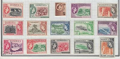 Dominica 1954 Definitive Issues Scott #142-52 Mint Lh & Used Cat $60.75