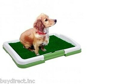 NEW TOTAL VISION 3 LAYER PUPPY POTTY TRAINER INDOOR GRASS TRAINING PATCH SYSTEM