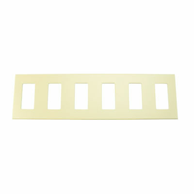 Lightolier Controls Nfb6Si Multi-Gang, 6-Gang, Faceplate Nfb Wall Plate, Ivory