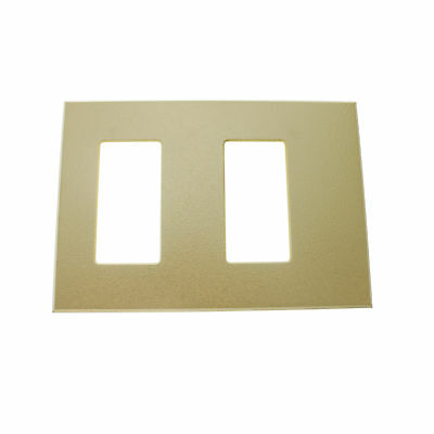 Lightolier Controls Fb2Sli 2-Gang Faceplate Wall Plate, Ivory