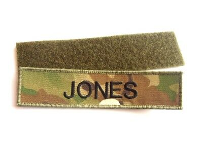 MILITARY NAME TAPE or ZAP BADGE DETAILS MTP KIT ARMY CADETS RAF RN MULTICAM