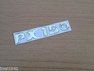 Vespa Px 150 Badge Resin Domed Side Panel Badge Chrome - Px 150 Decal . New