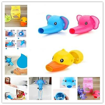 NEW Elephant Duck Baby Kids Water Tap Faucet Extender Washing Hands Tools W