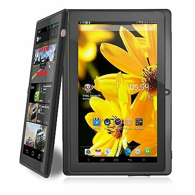 7 Inch Quad Core 1.3Ghz Android 8GB Dual Camera WiFi Bluetooth Mic Tablet Black