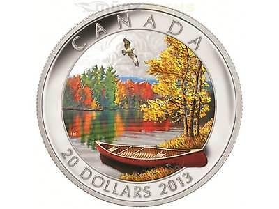 20 $ Dollar Autumn Bliss Herbstimpression Kanada 2013 1 Unze oz Silber PP