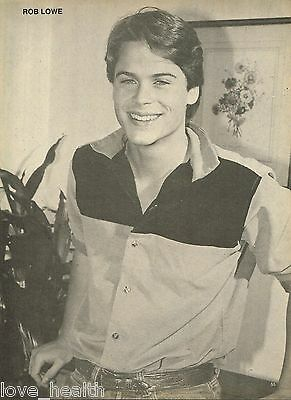 "ROB LOWE - TOM REILLY - 11"" x 8"" - TEEN BOY ACTOR -  MAGAZINE POSTER PINUP"