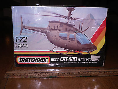 US Army Bell OH-58D Aeroscout Helicopter, Plastic Model Kit, Scale:1/72