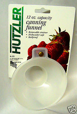 Plastic Wide-Mouth Canning Funnel with Strainer Boil Proof New